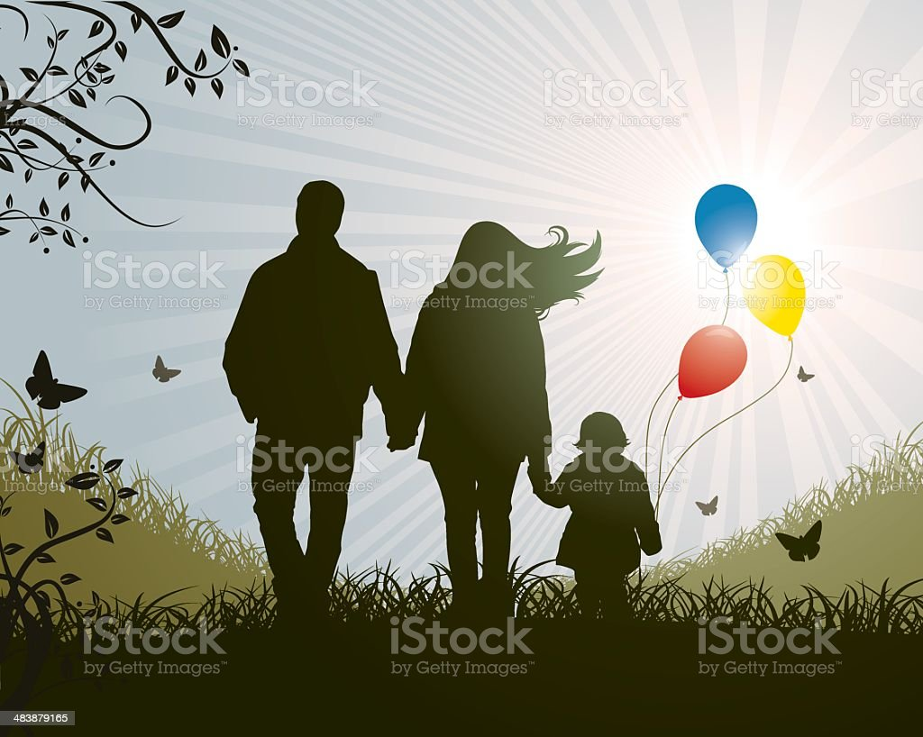 Family Nature Concept royalty-free stock vector art