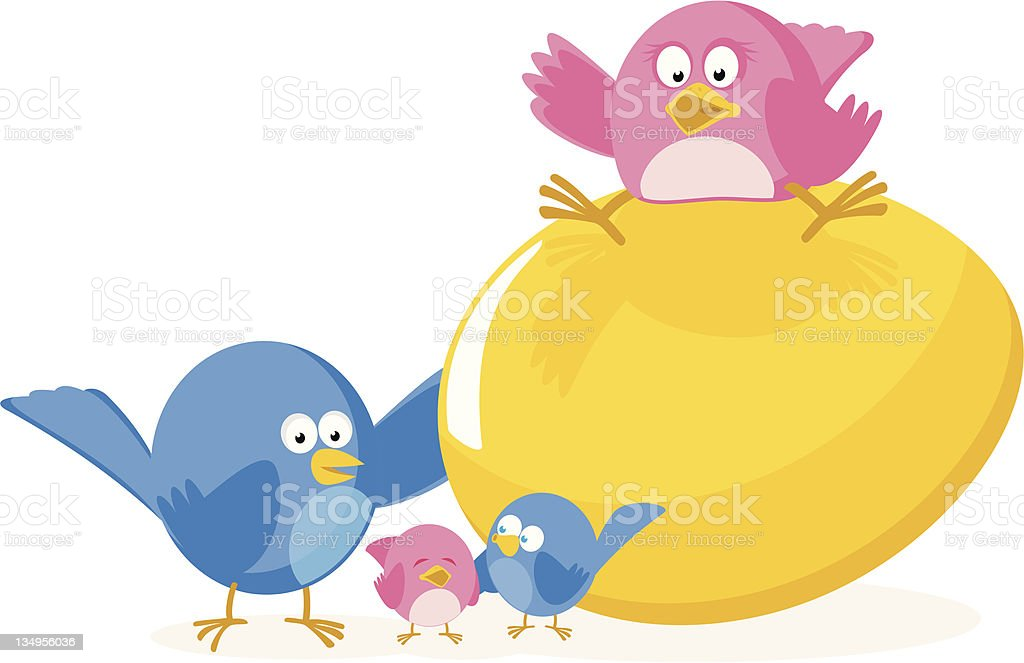Family Nest Egg royalty-free stock vector art