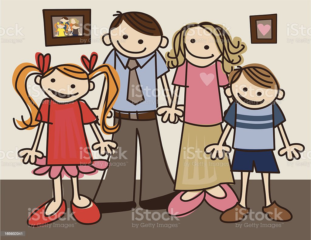 Family of Four royalty-free stock vector art