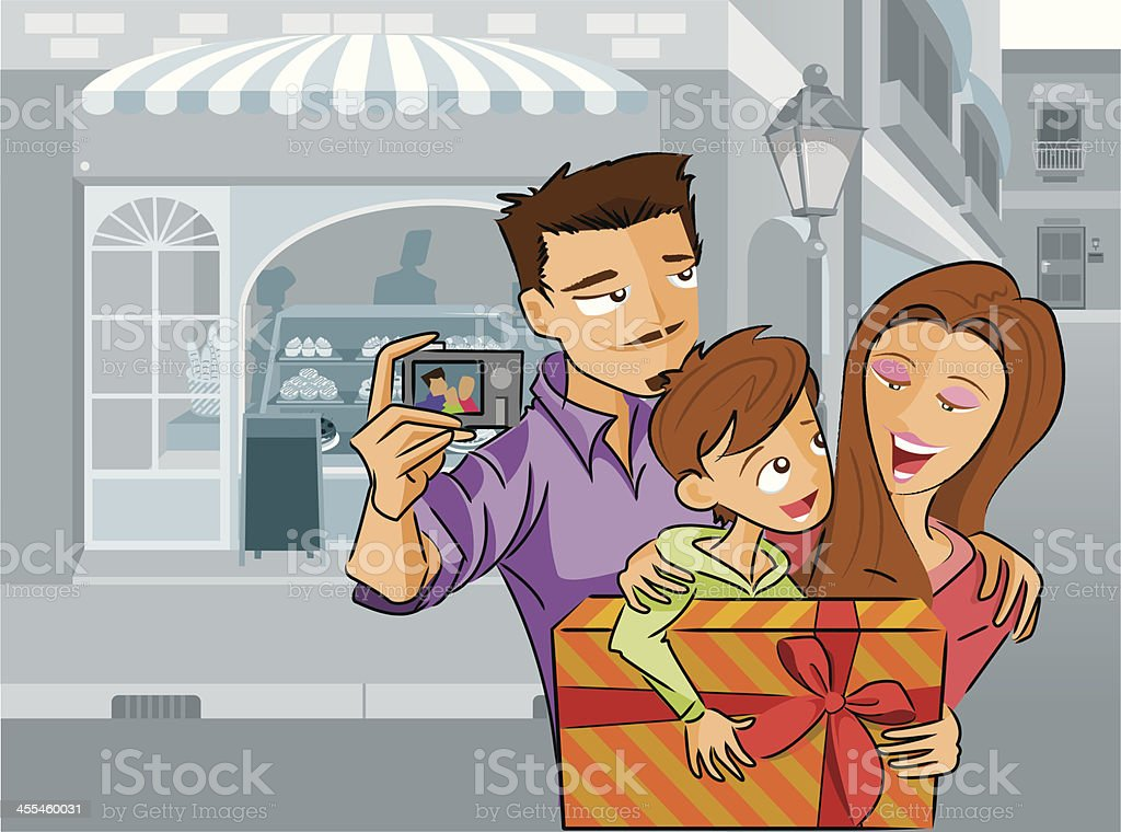 Family Outing royalty-free stock vector art