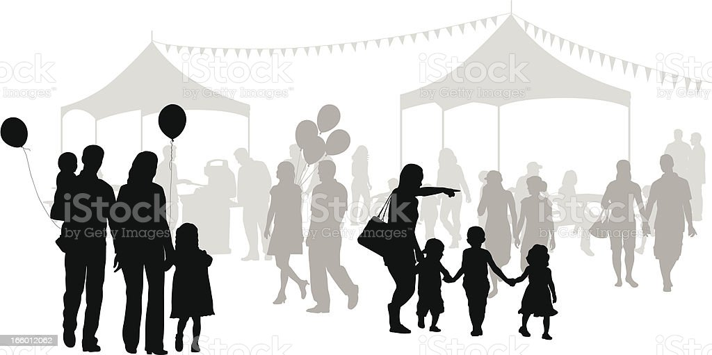 Family Outings vector art illustration