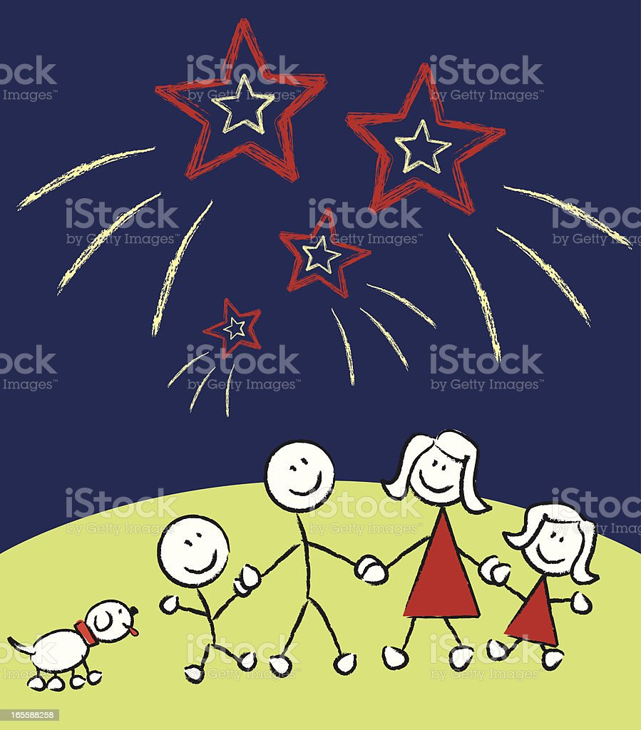 Family Outside royalty-free stock vector art