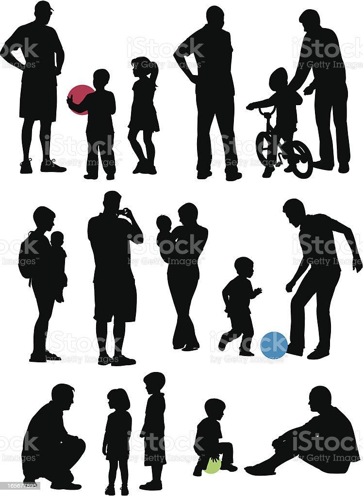 Family Park royalty-free stock vector art