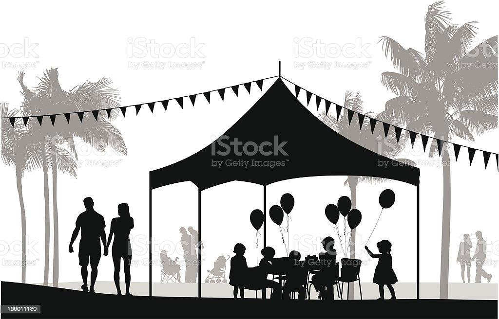 Family Party royalty-free stock vector art