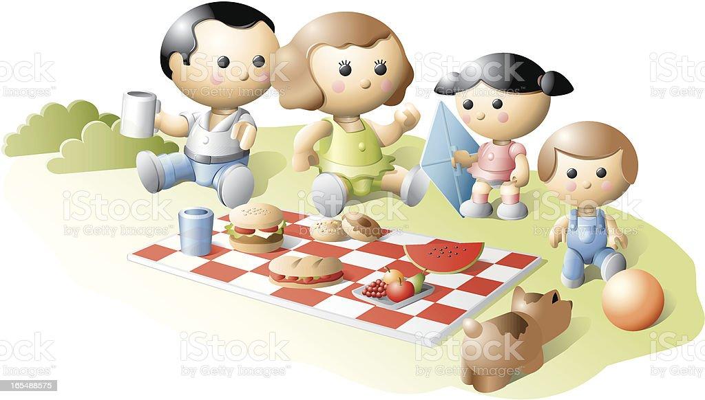 Family picnic royalty-free stock vector art