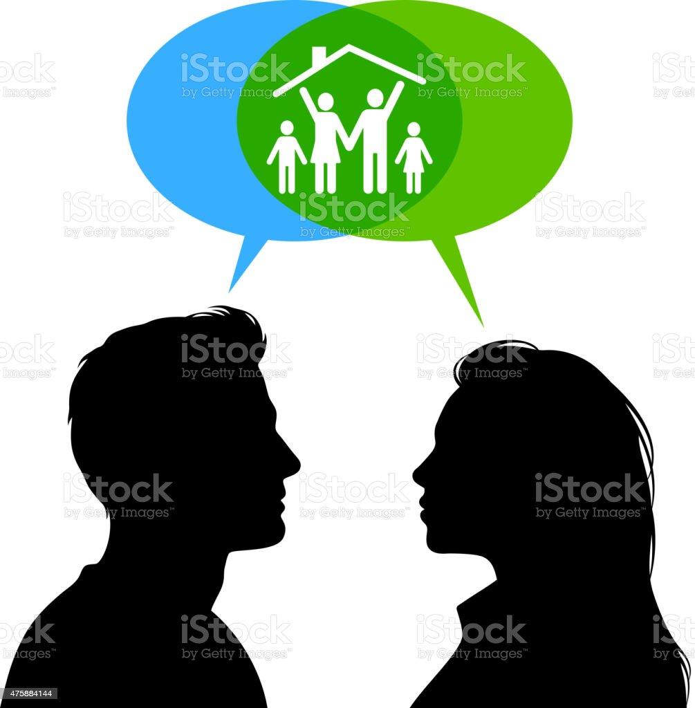 Family Planning Concept vector art illustration