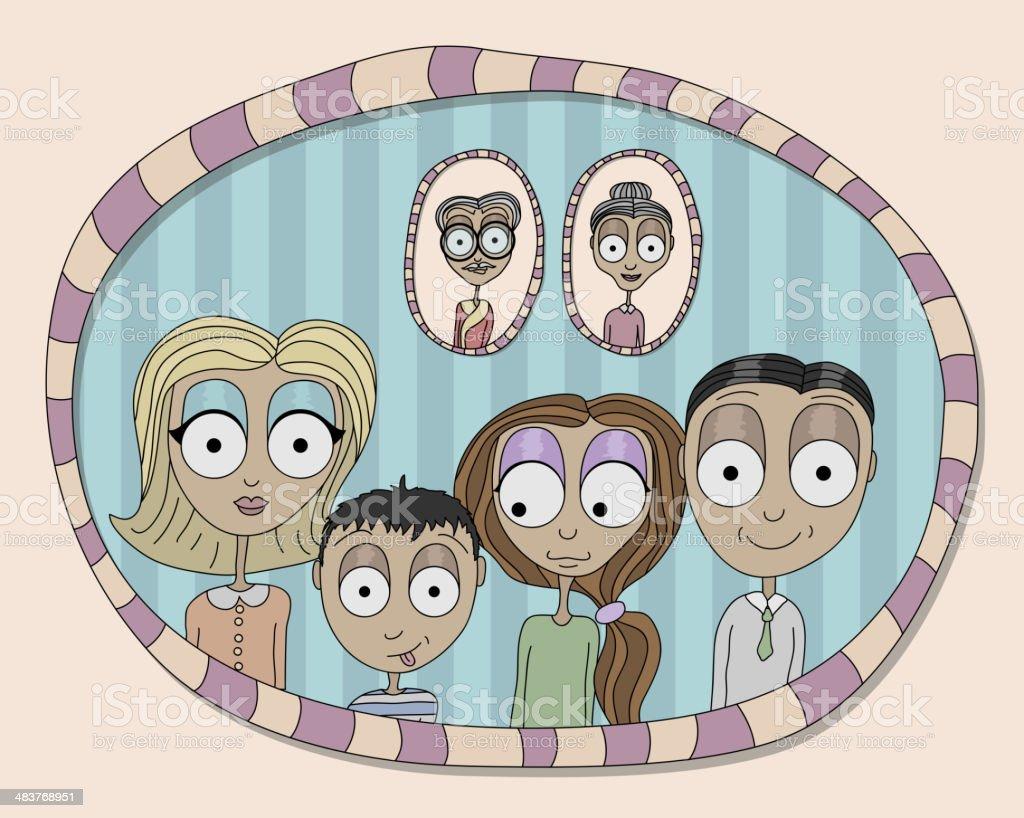 Family portrait royalty-free stock vector art