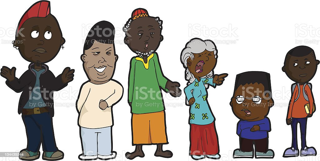 Family Problems vector art illustration