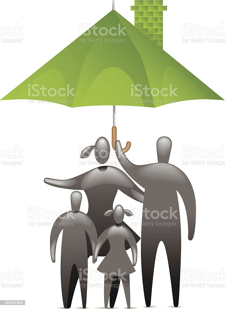 Family Protection royalty-free stock vector art