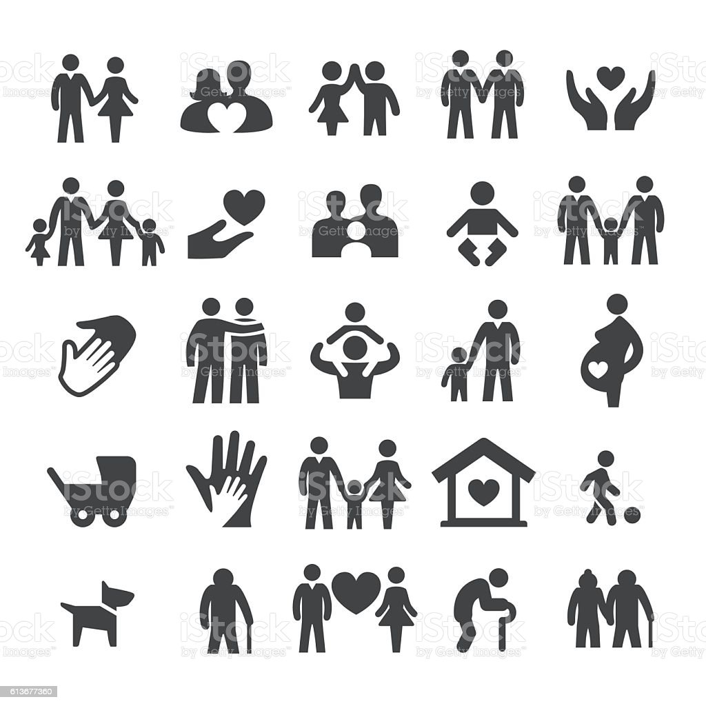 Family Relations Icons - Smart Series vector art illustration