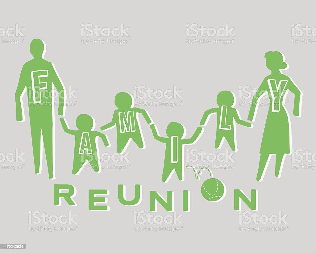Family Reunion vector art illustration
