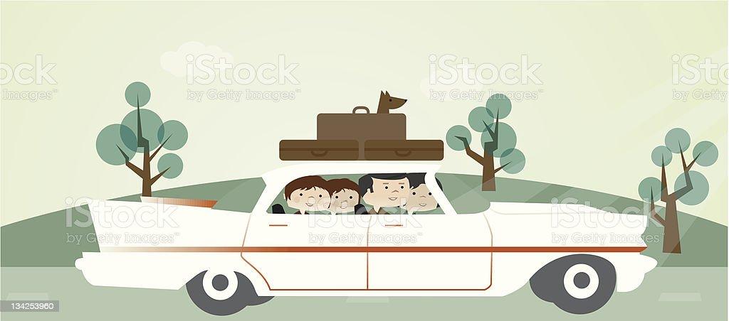 family road trip royalty-free stock vector art