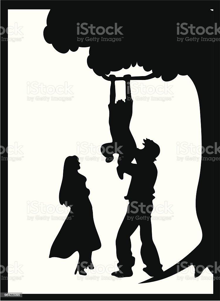 Family Silhouette (Vector) royalty-free stock vector art