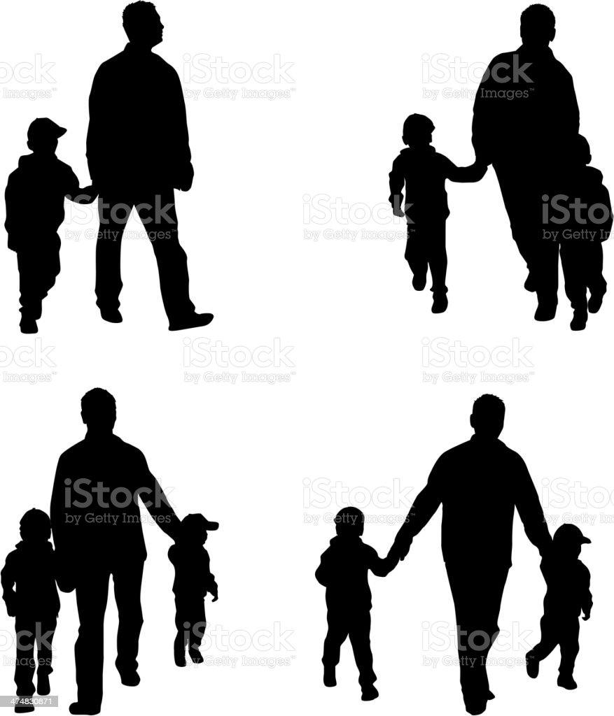 Family Silhouettes - Illustration vector art illustration