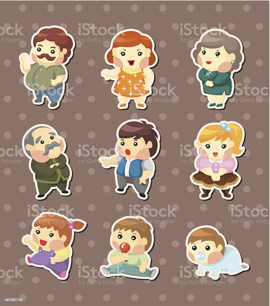 family sticers royalty-free stock vector art