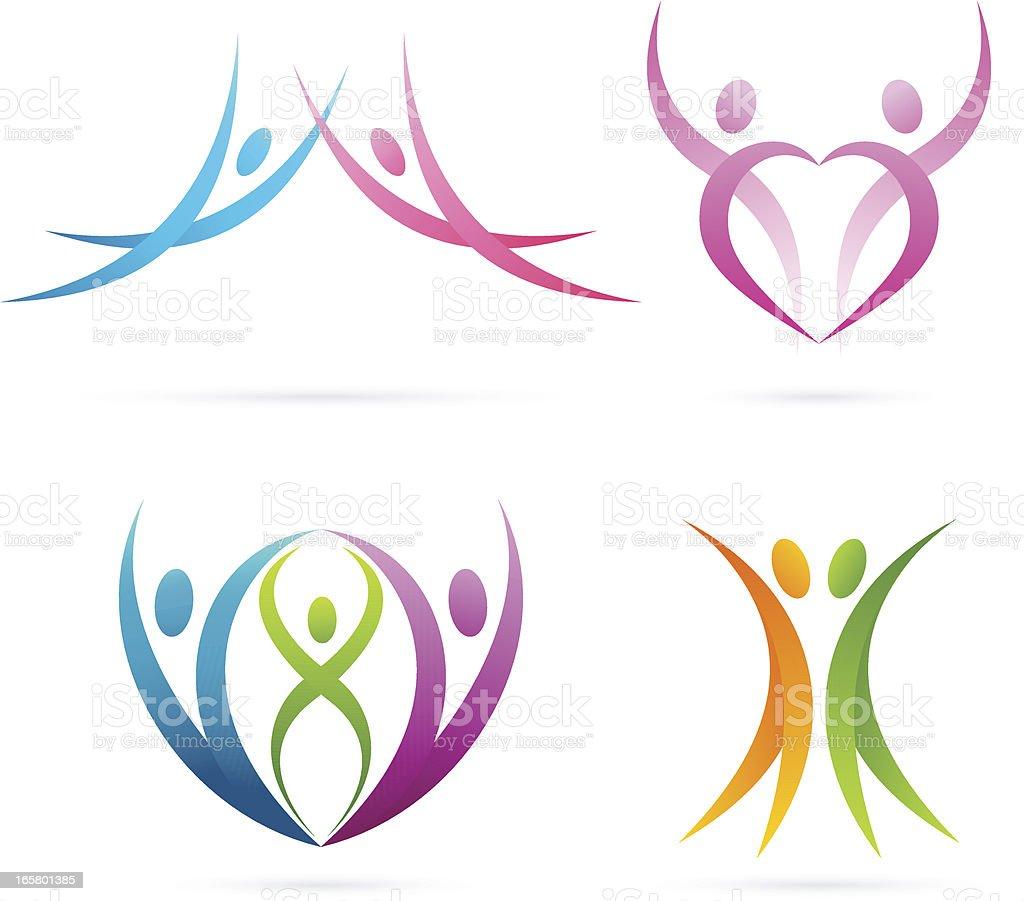 Family symbols | Set 2 royalty-free stock vector art