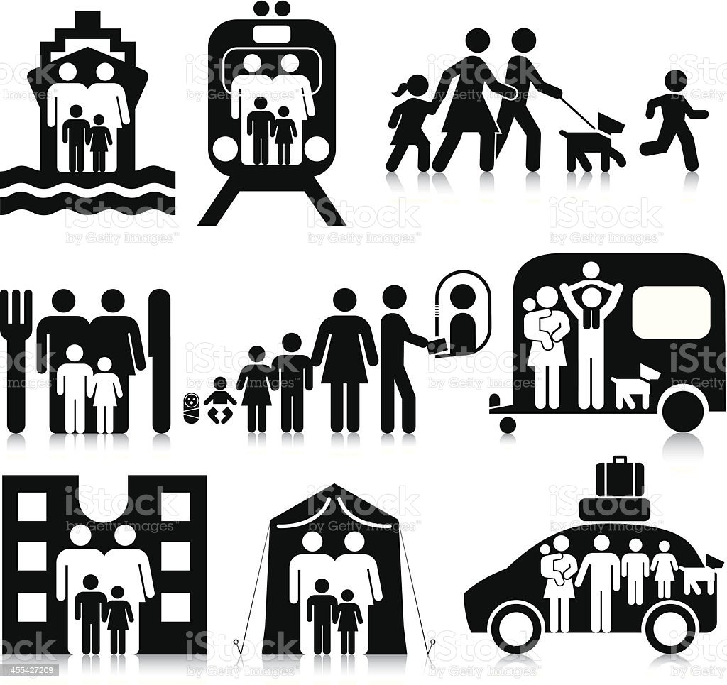 Family Travel royalty-free stock vector art