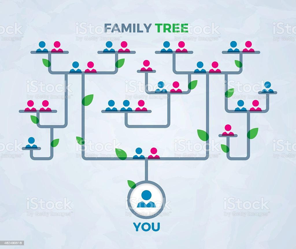 Family Tree Concept vector art illustration