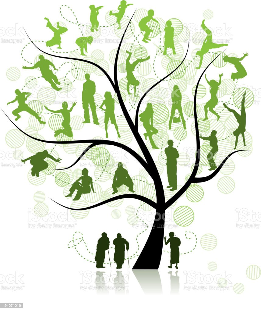 Family tree, relatives vector art illustration