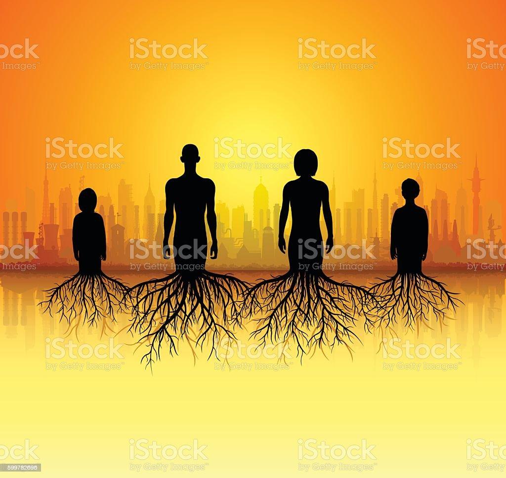 Family Tree vector art illustration
