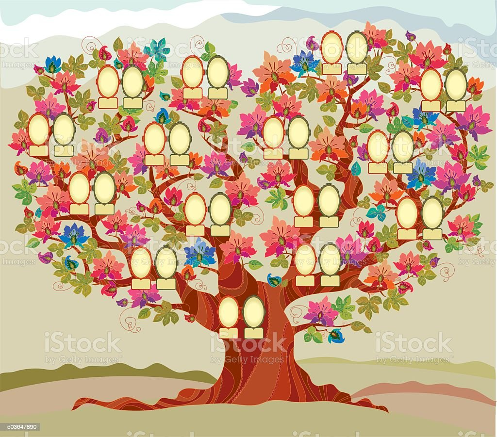 Family Tree Clip Art, Vector Images & Illustrations - iStock
