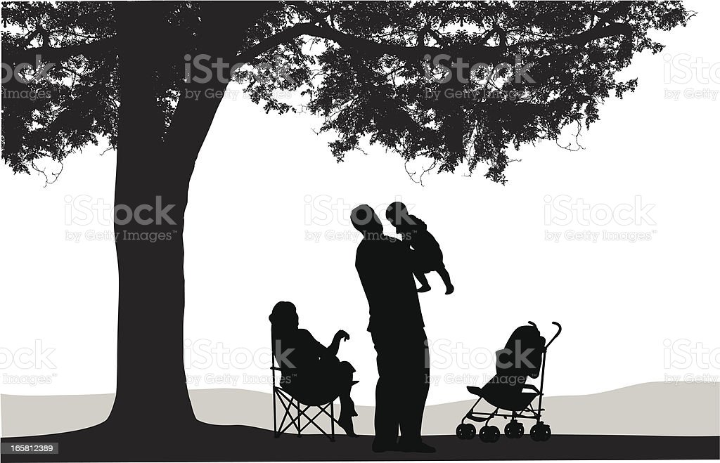 Family Tree Vector Silhouette royalty-free stock vector art