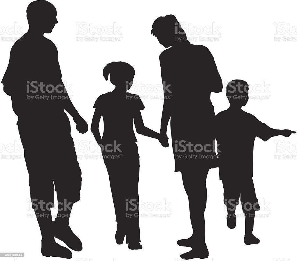 family trip royalty-free stock vector art