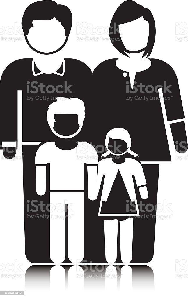 Family Unit royalty-free stock vector art