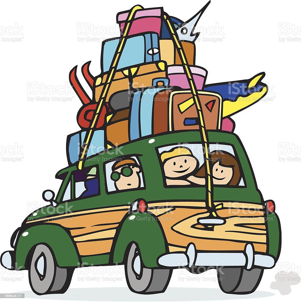 Family Vacation Cartoon royalty-free stock vector art