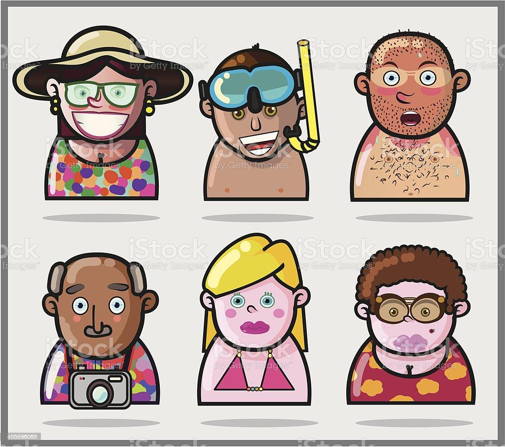 Family Vacation royalty-free stock vector art