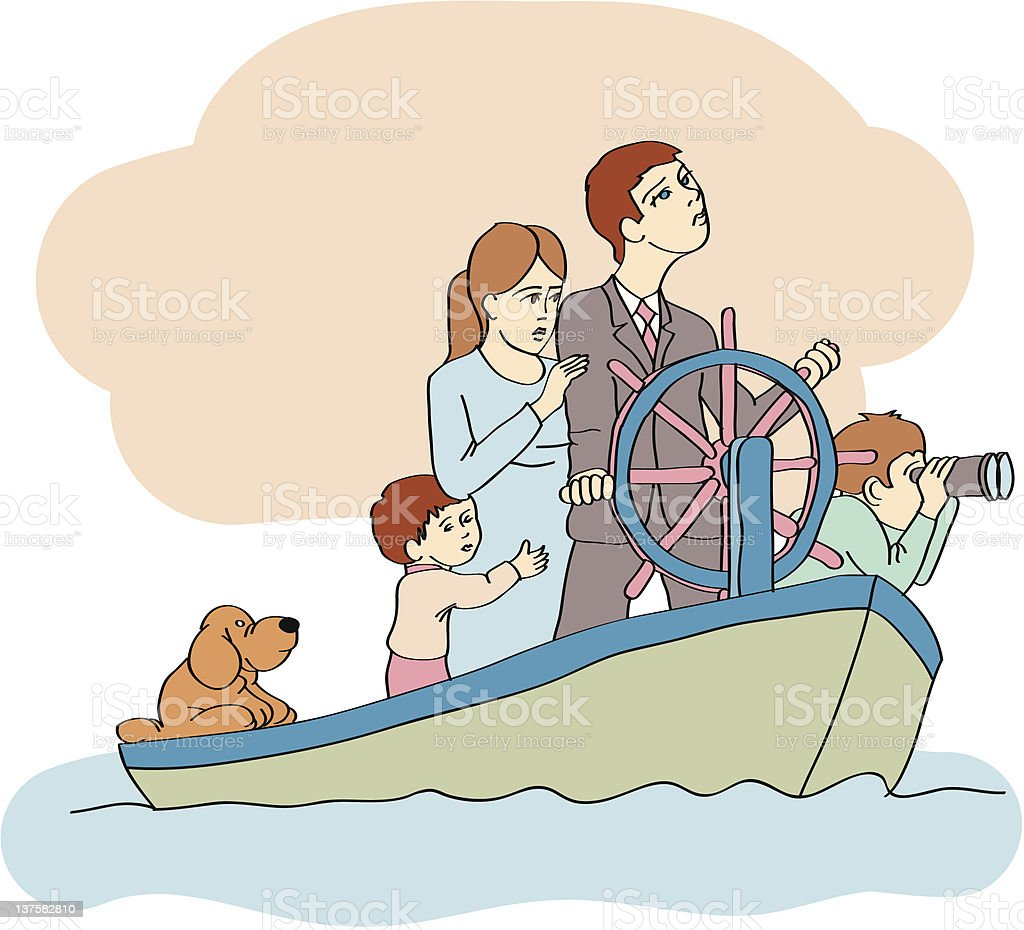 family vector art illustration