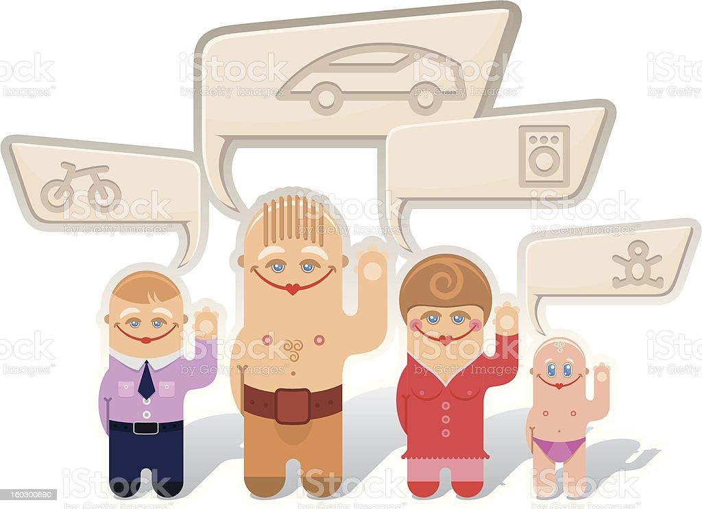 Family royalty-free stock vector art
