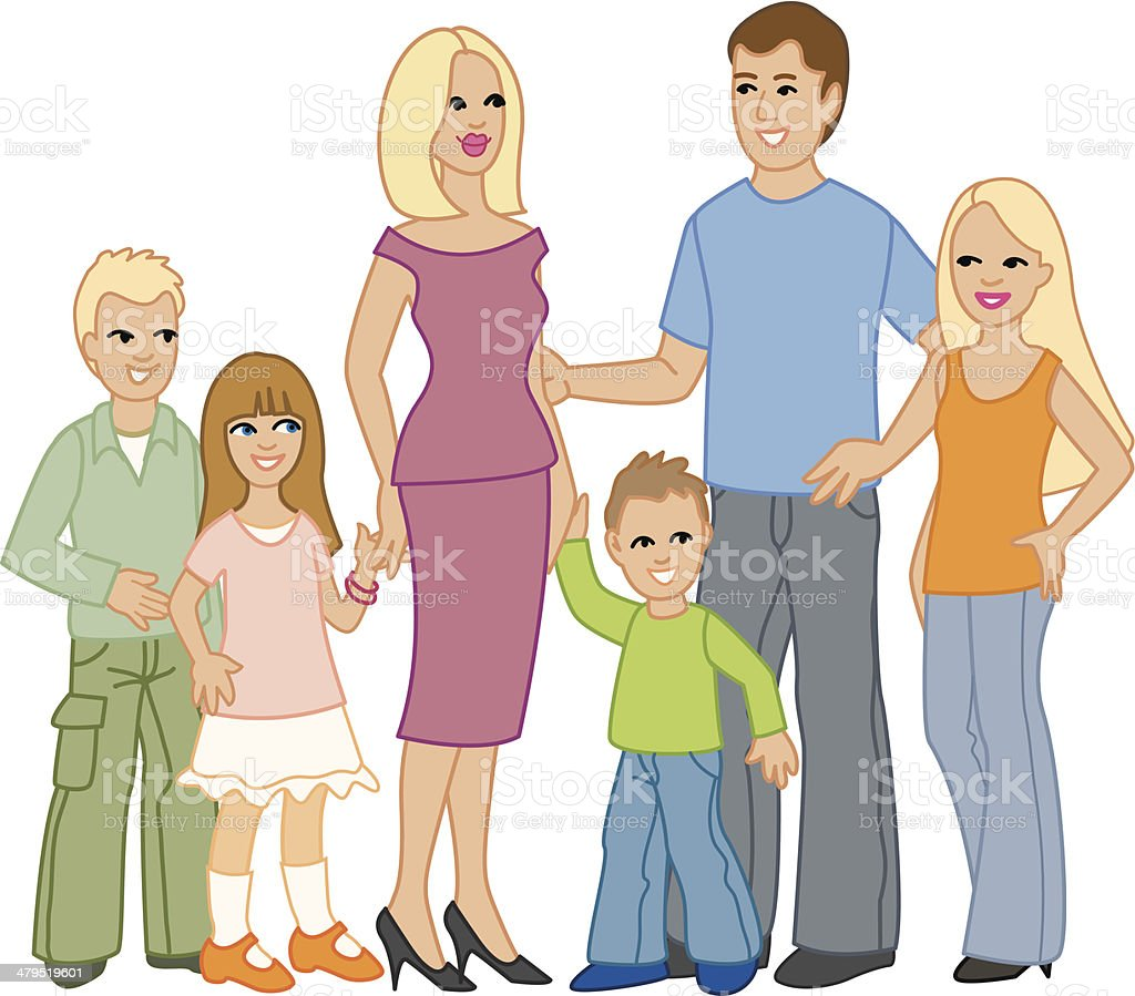 Family royalty-free stock vector art