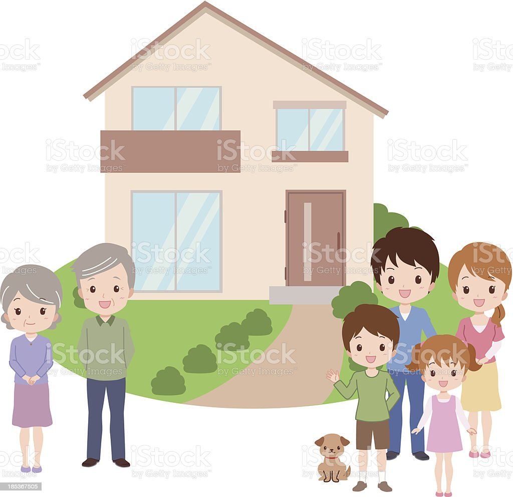 family_home royalty-free stock vector art