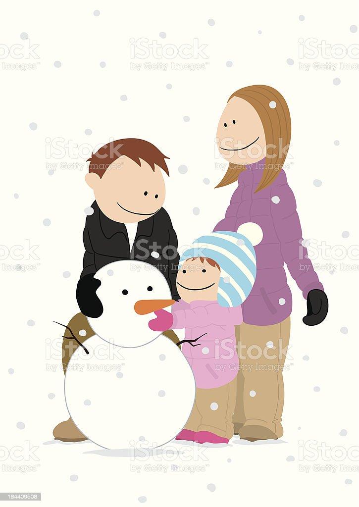 family_snowman royalty-free stock vector art