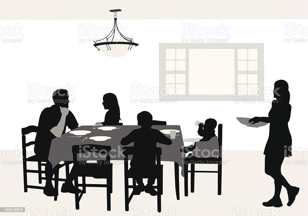 FamilyDinner vector art illustration