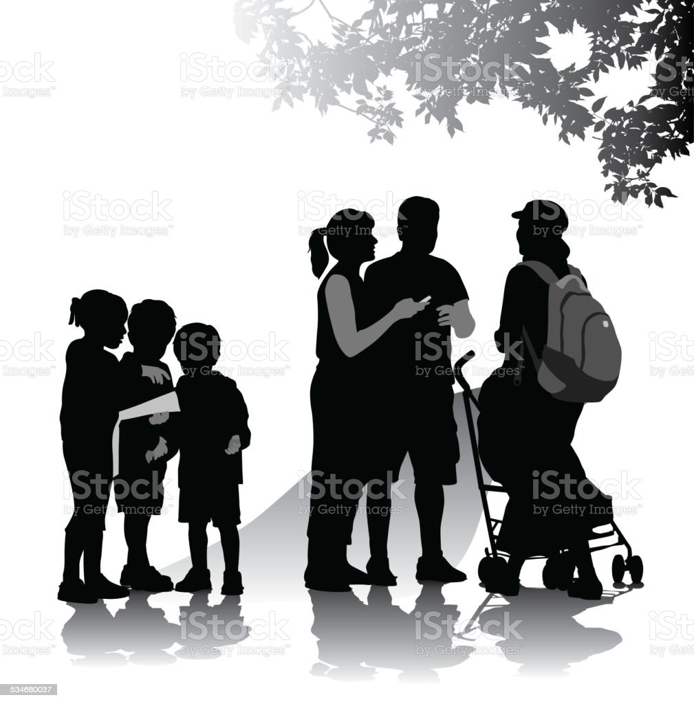 FamilyFriends vector art illustration