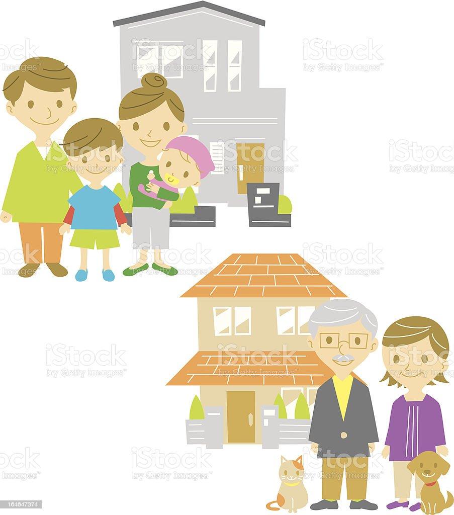 family,home,house royalty-free stock vector art