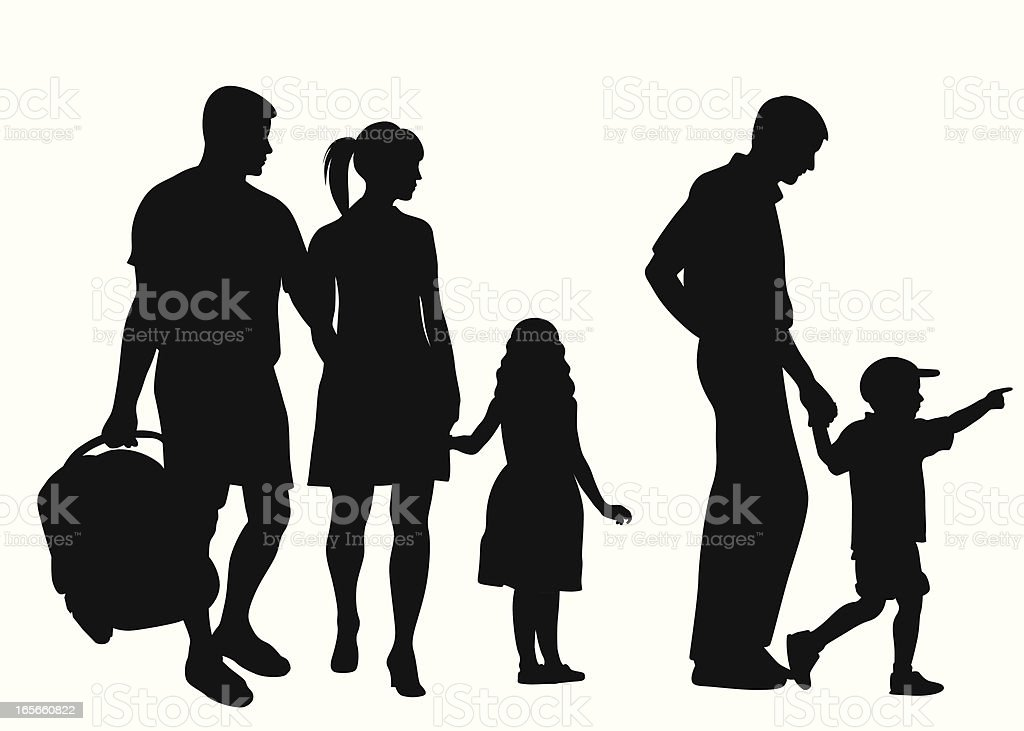 Family'n Friends Vector Silhouette royalty-free stock vector art