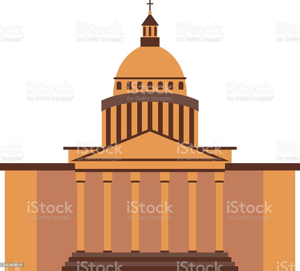 Famous building vector illustration. vector art illustration