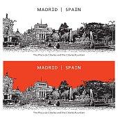 Famous place of Madrid, Spain. The Plaza de Cibeles