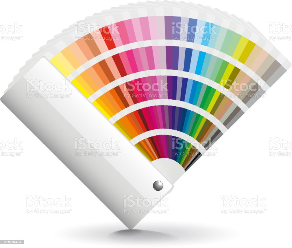 Fan color isolated on white vector vector art illustration