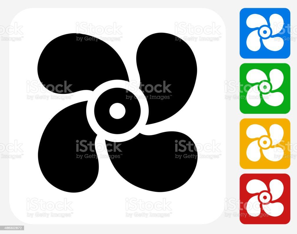 Fan Icon Flat Graphic Design vector art illustration