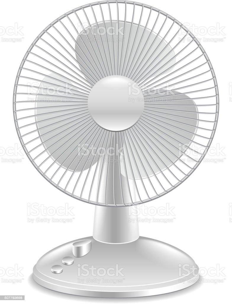 Fan isolated on white vector vector art illustration