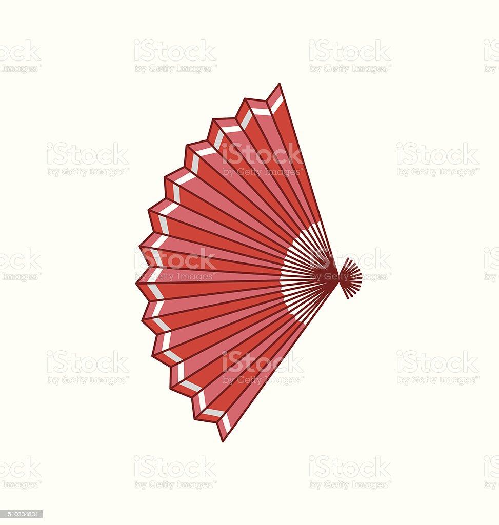 fan vector art illustration