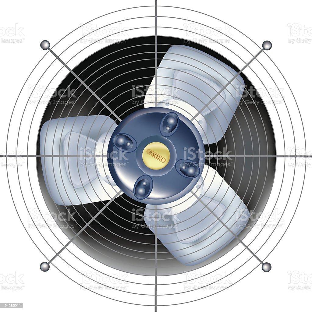Fan - ventilator on white background royalty-free stock vector art