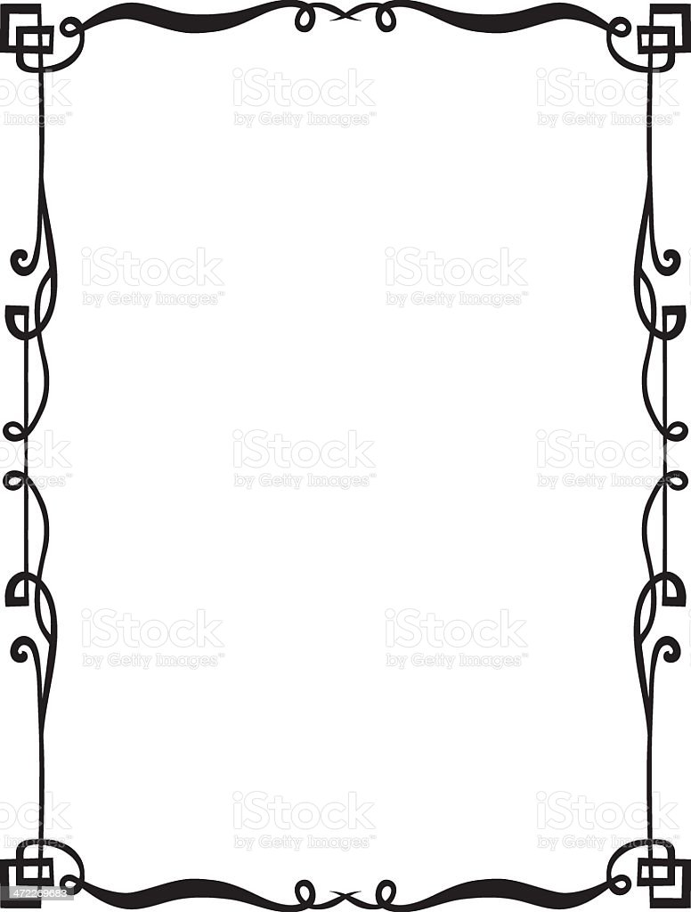 Fanciful Border A vector art illustration