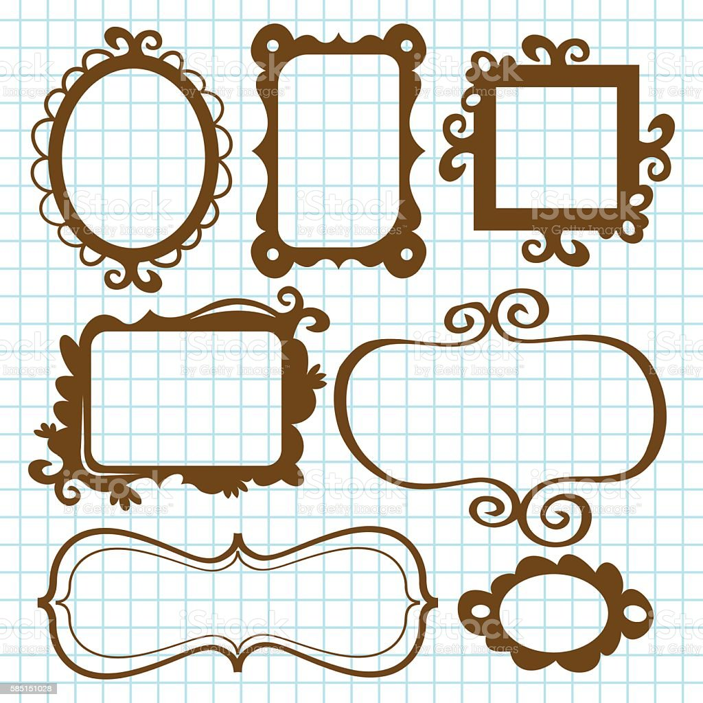 Fanciful Frames And Bookplates vector art illustration