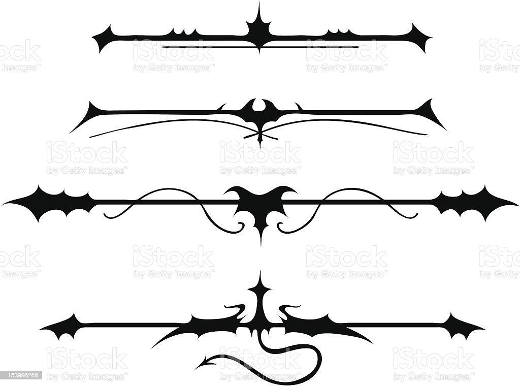 Fanciful Gothic Ornamentation II - 1 credit vector art illustration