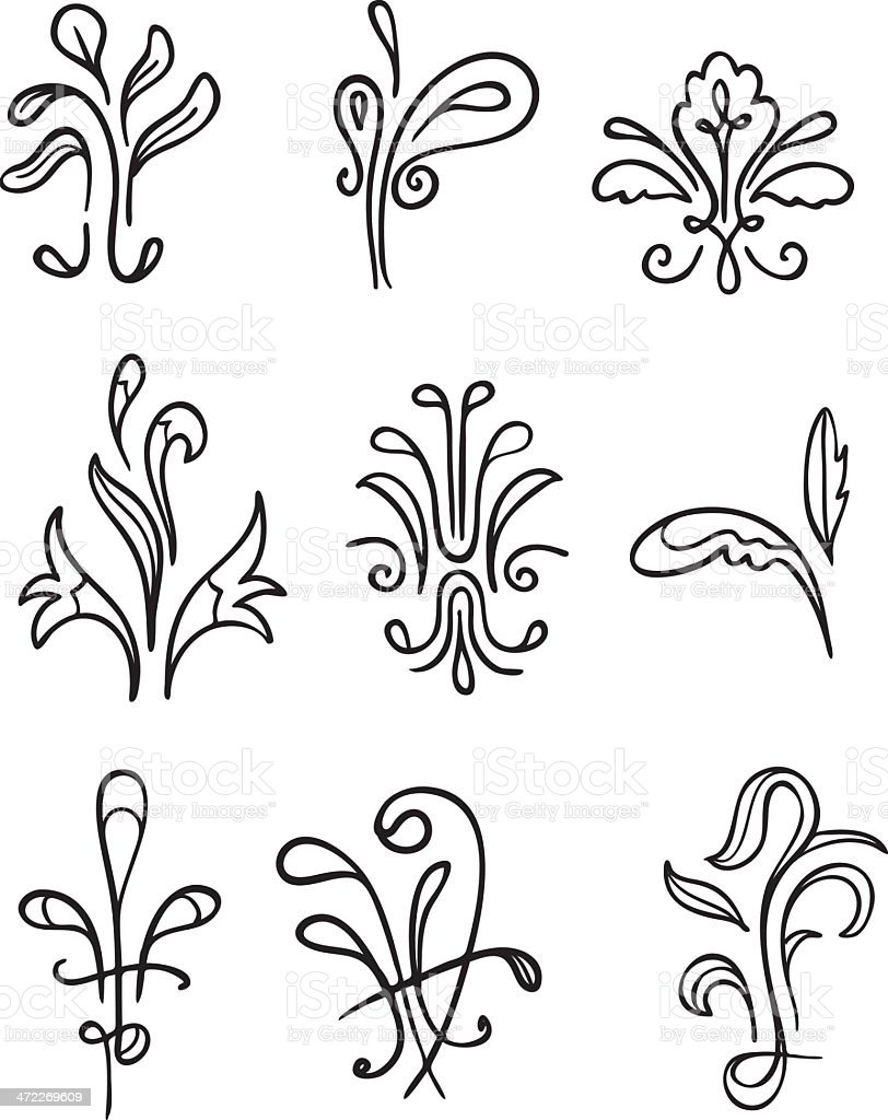 Fanciful Organic Ornamentation royalty-free stock vector art